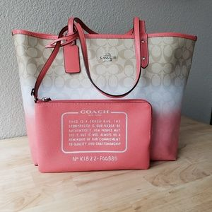 NWT REVERSIBLE COACH TOTE